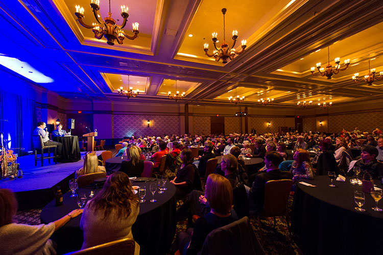 A ballroom at the Fairmont Chateau Whistler at the Whistler Writers Festival.
