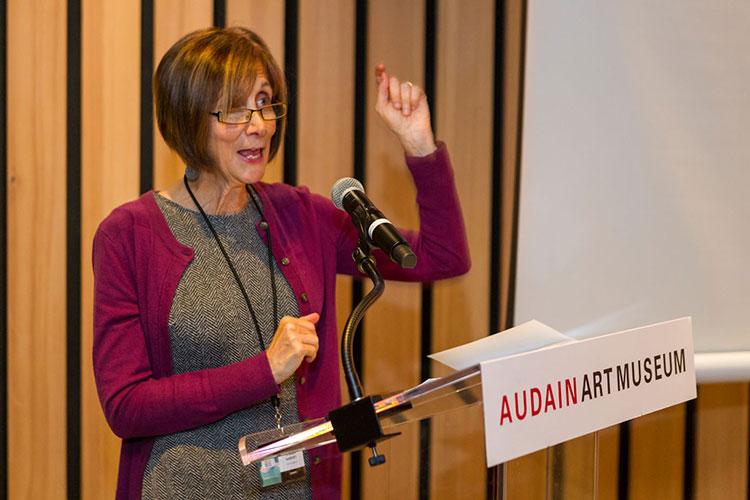Founder, Stella Harvey, speaking at the Whistler Writers Festival.