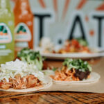 Yummy tacos on display at La Cantina in Whistler.