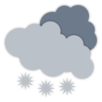 Mainly cloudy with isolated flurries.