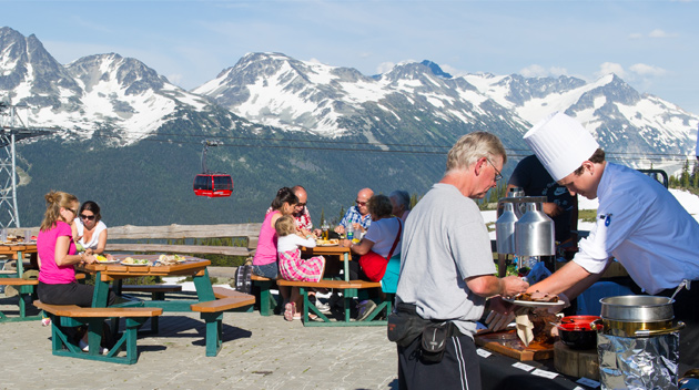 Whistler Mountain BBQ in the Alpine