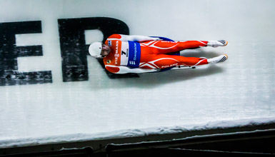 Competitor at the Luge World Cup