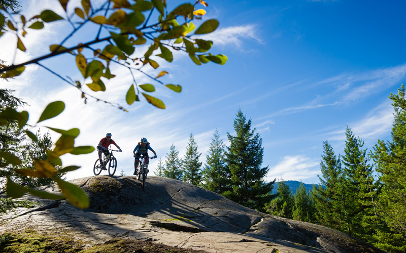 Mountain Biking Sigletrack Whistler