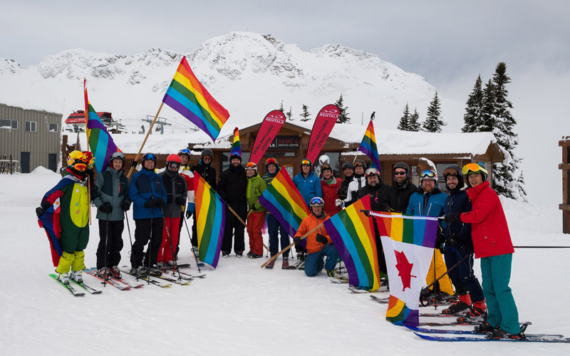 Skiing Whistler Pride and Ski Festival