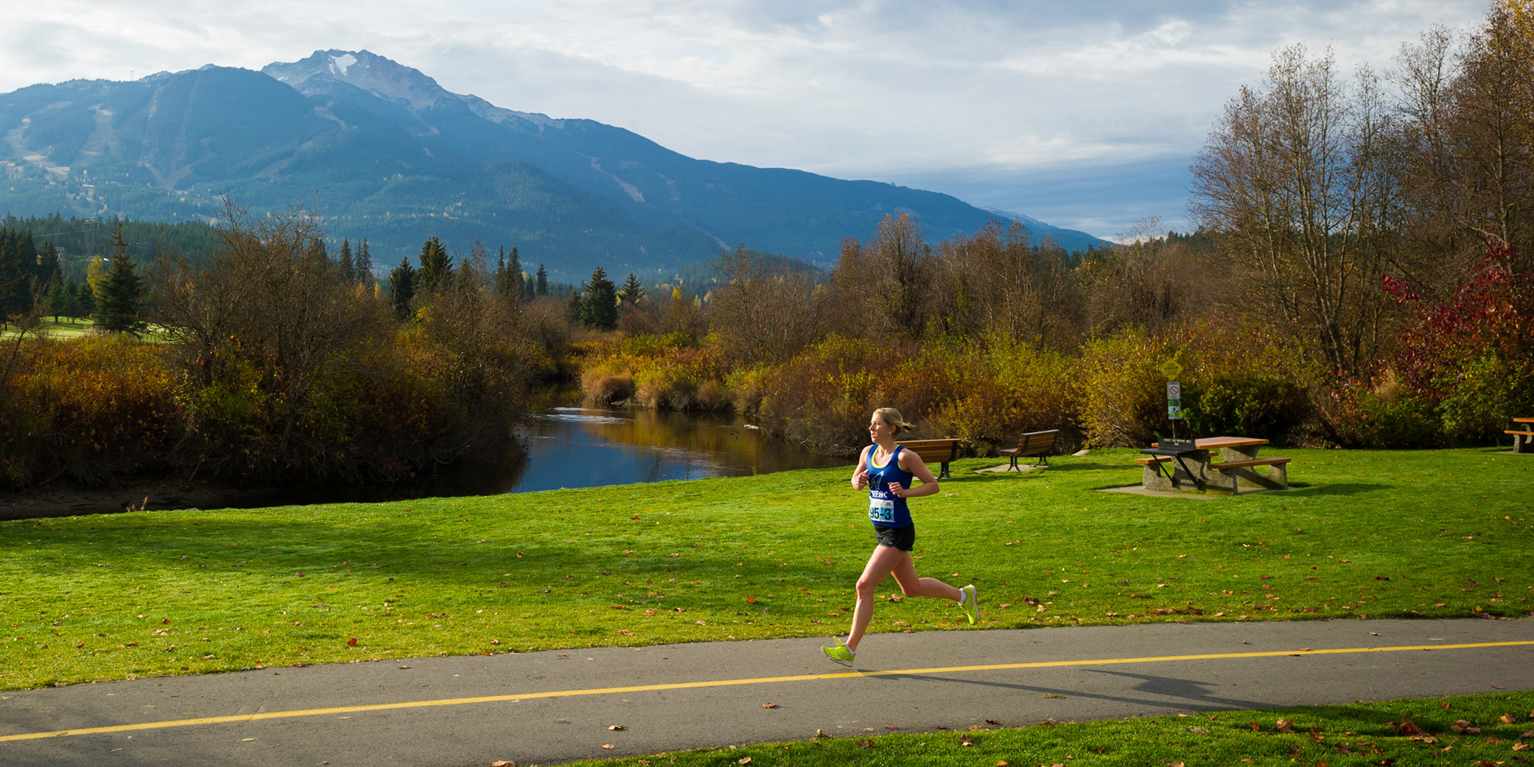 Runners in the Whistler 50 Ultramarathon