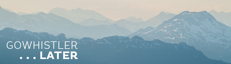 Hazy mountain peaks in Whistler BC Canda