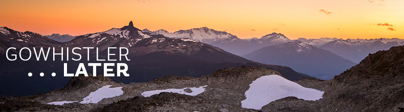 Sunset in the high alpine of Whistler BC Canda