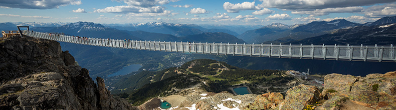 Cloudraker Skybridge is part of the PEAK 2 PEAK 360 Experience in Whistler, BC