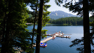 It's lake season again in Whistler BC