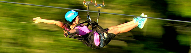 Enjoying the heart-pumping adventure of ziplining in Whistler, BC