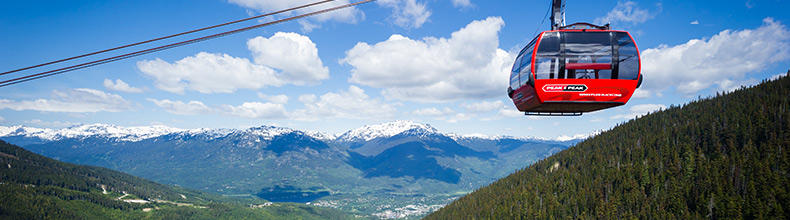 The incredible PEAK 2 PEAK Gondola in Whistler, BC