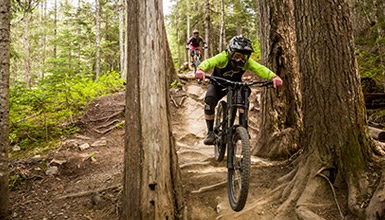 The Whistler Mountain Bike Park is officially open in Whistler, BC