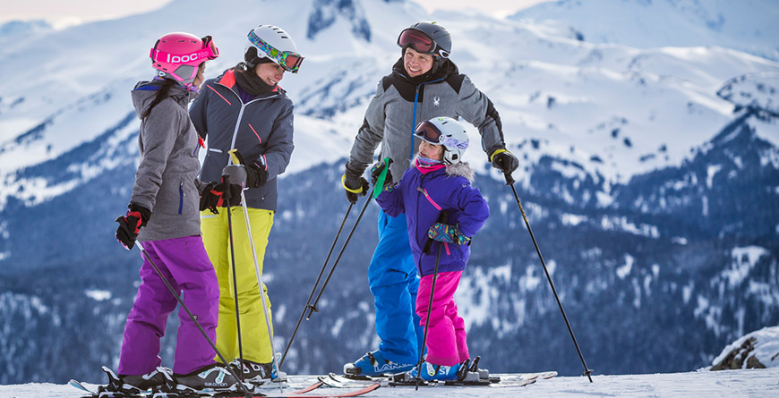 Family Skiing Whistler Mountain