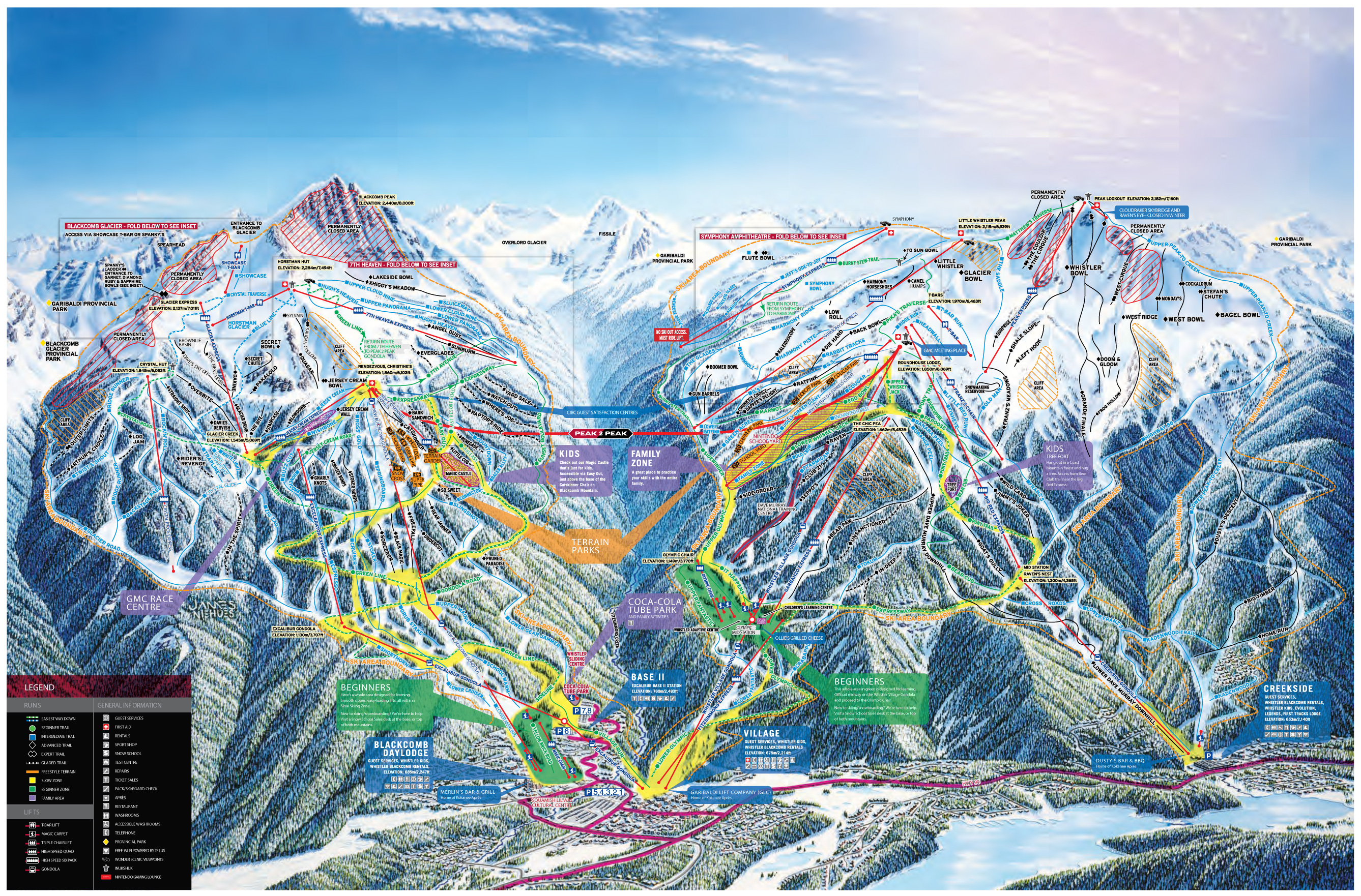 Whistler Canada Ski Map Whistler Blackcomb Trail Maps | Tourism Whistler