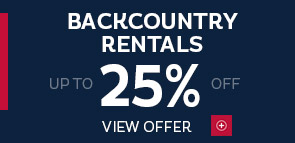 25% off backcountry rentals