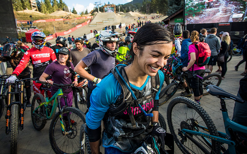 Participating in Whistler's annual Crankworx Mountain Bike Festival