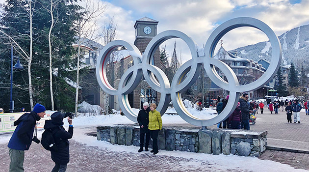 Olympic Rings in Winter