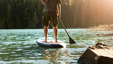 Paddleboarding in Whistler BC