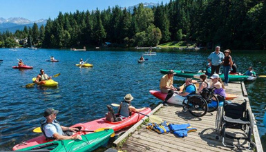 Adaptive Kayaking on Alta Lake