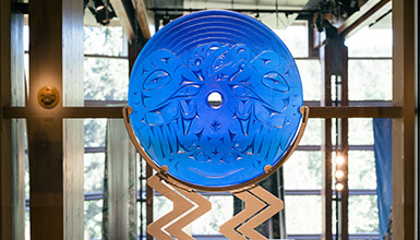 Indigenous art at Squamish Lil'wat Cultural Centre in Whistler