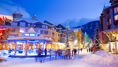 People shopping in Whistler Village