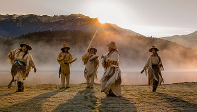 First Nations dancing in Whistler