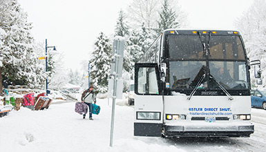 Shuttle Bus from Vancouver to Whistler