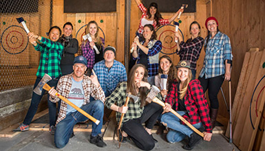 Axe throwing in Whistler