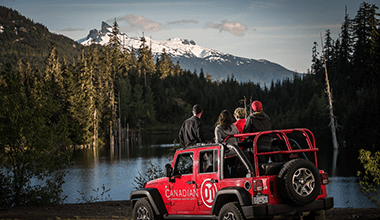 Callaghan Jeep Tour + Peak 2 Peak Combo