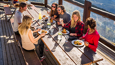 Group Dining on Whistler Mountain
