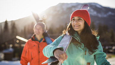 Spring apres ski session on the mountain