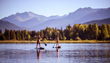 Paddleboarding in Whistler