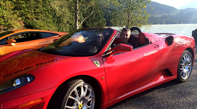 A Ferrari F430 on the ultimate driving tour