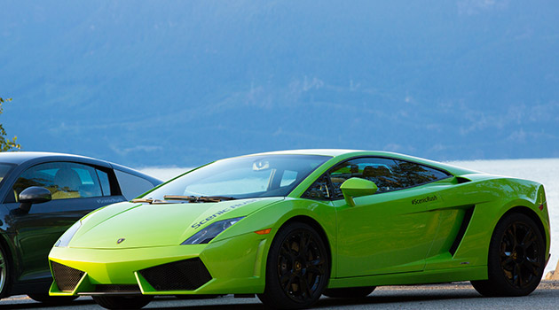 Lamborghini Gallardo on the Sea to Sky Highway