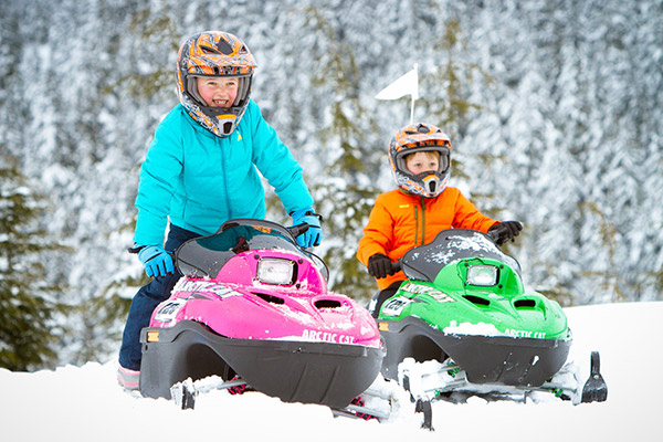 Whistler Kids Snowmobile Fun
