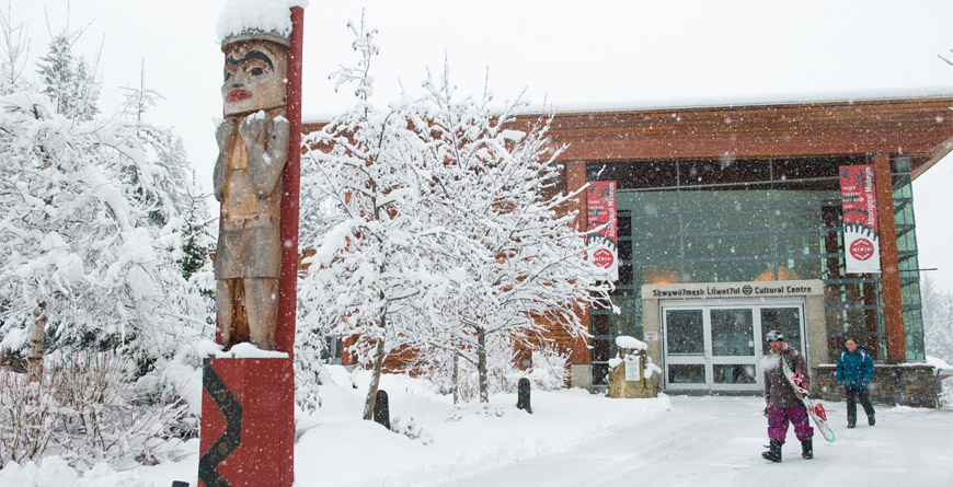 Entrance to the Audain Arts Museum in Whistler