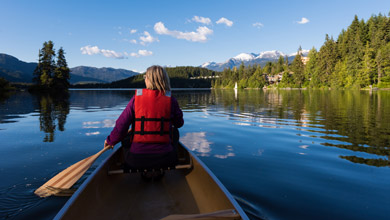 Canoeing on Alta lake