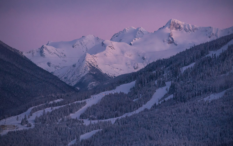 Whistler Mountain at Night