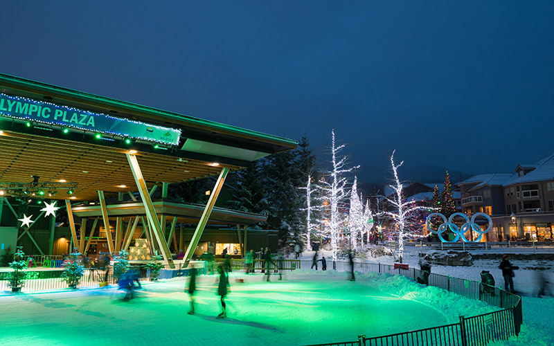 Whistler Olympic Plaza Ice Skating