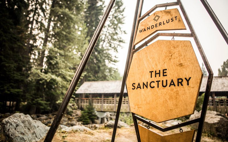 The Sanctuary space at Wanderlust