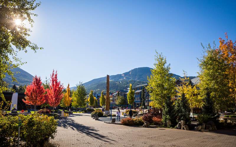 Whistler Village in autumn