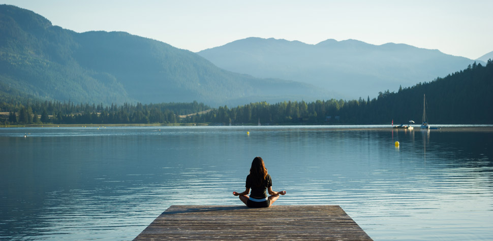 Meditating at Lost Lake