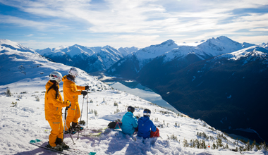 Teambuilding with a  View in Whistler