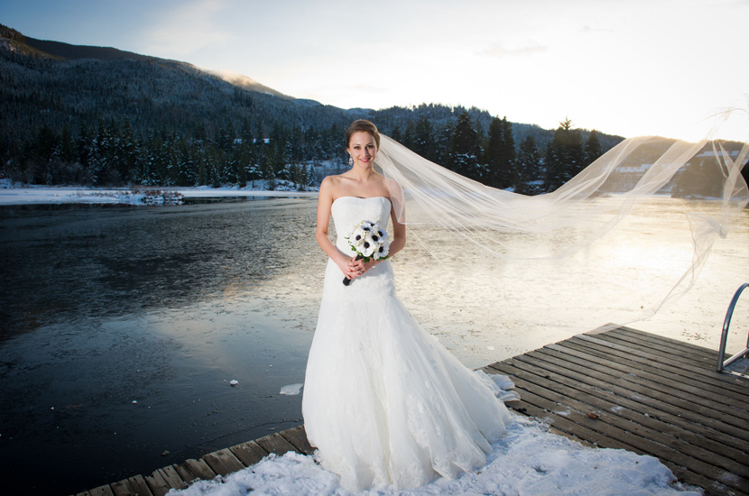 Winter Bride in Whistler