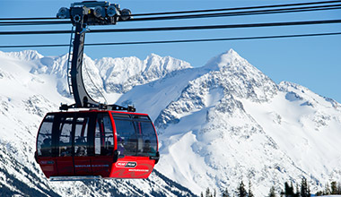 Peak 2 Peak Gondola in Winter