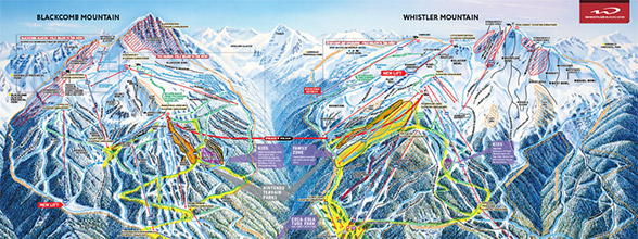 Whistler Blackcomb Canada Trail Map