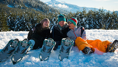 Snowshoeing at Whistler Olympic Park